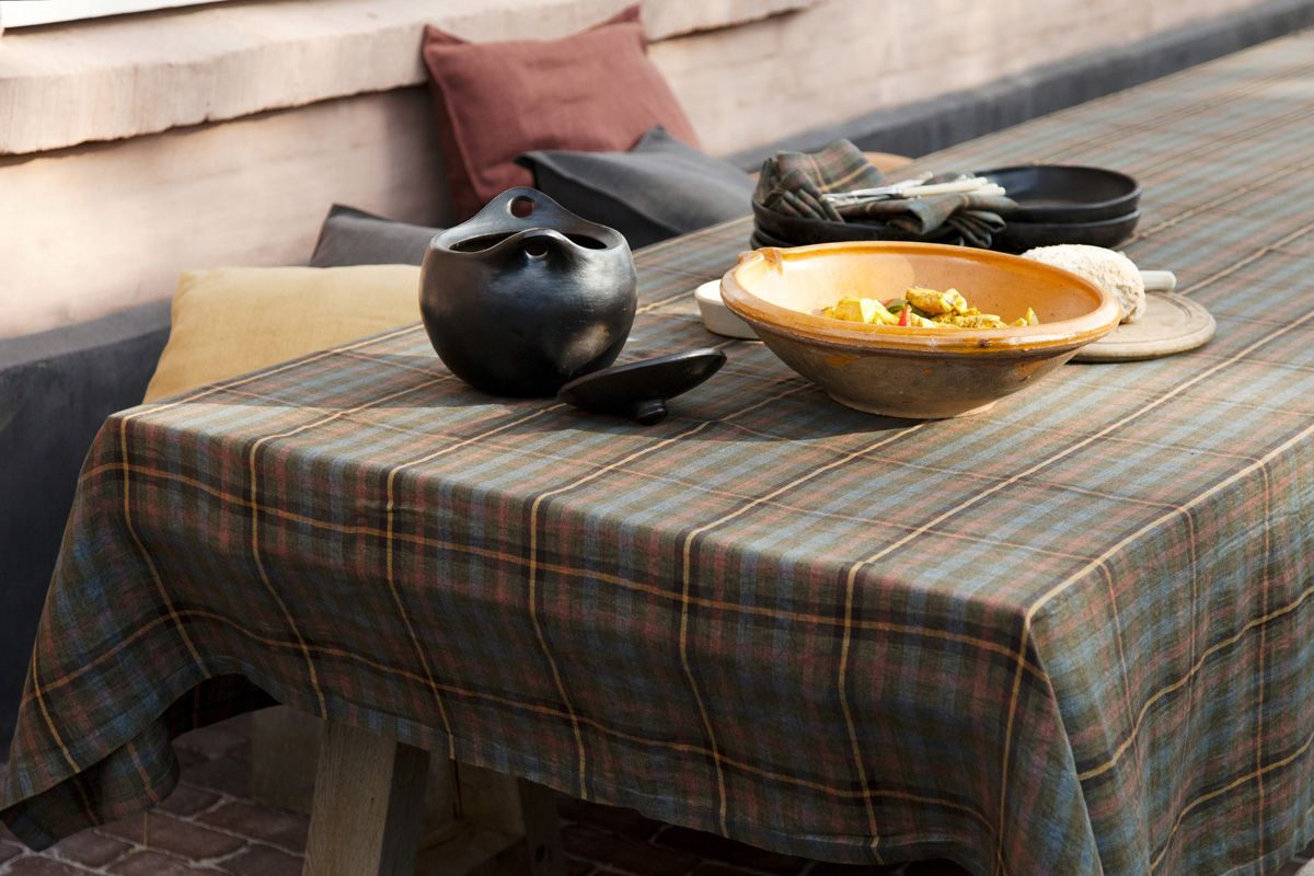New Harvest table linen collection by Libeco Home Belgian linen available at Didriks.com.