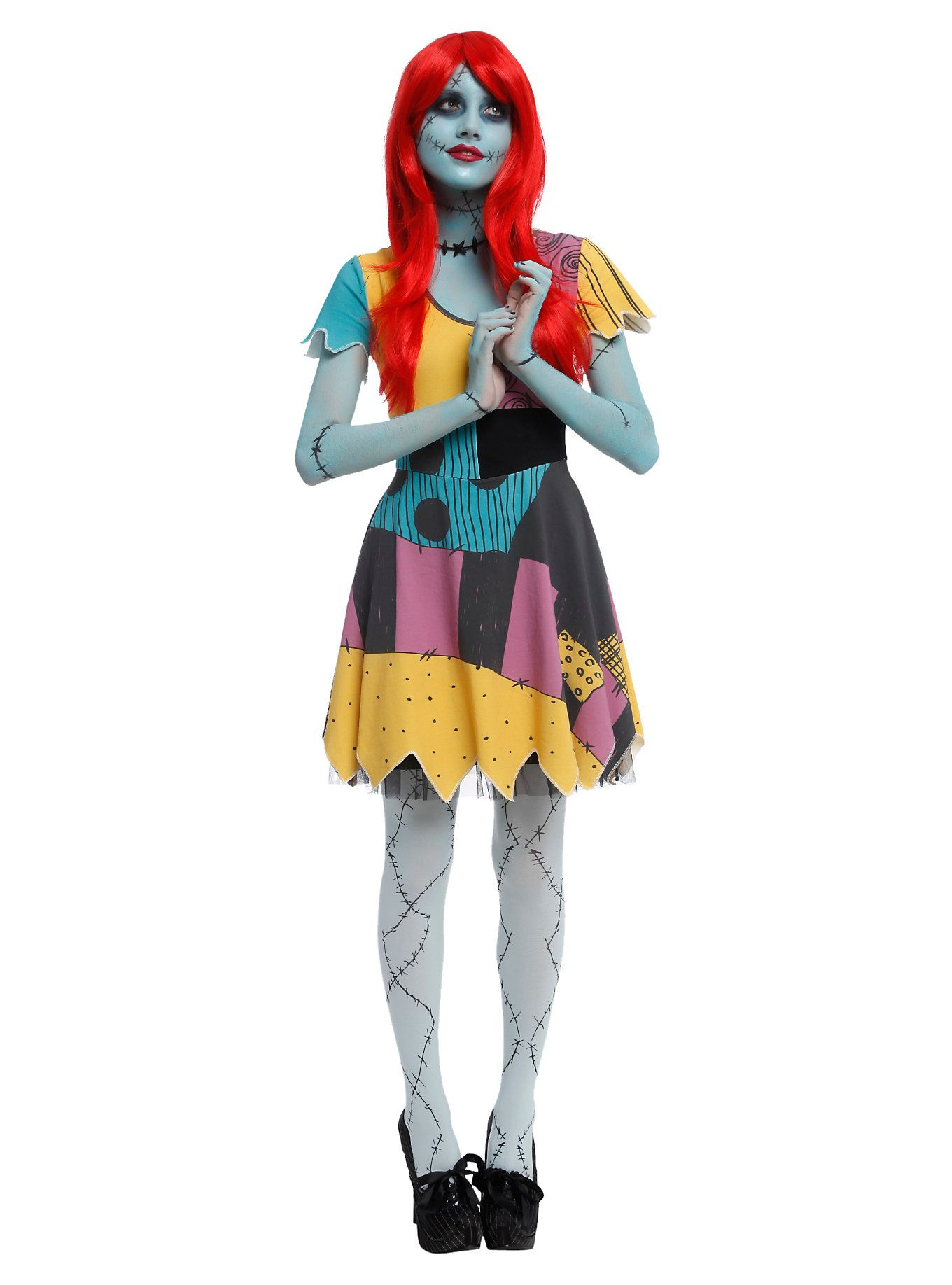 The Nightmare Before Christmas Sally Costume Dress | Halloween ...