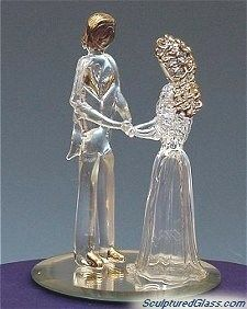 Bride & Groom Wedding Cake Top Figurines