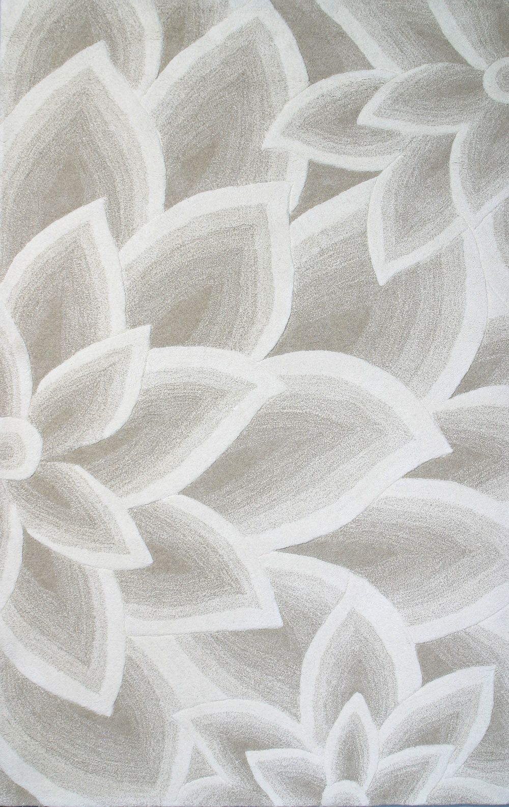Gorgeous Grey Flower Rug