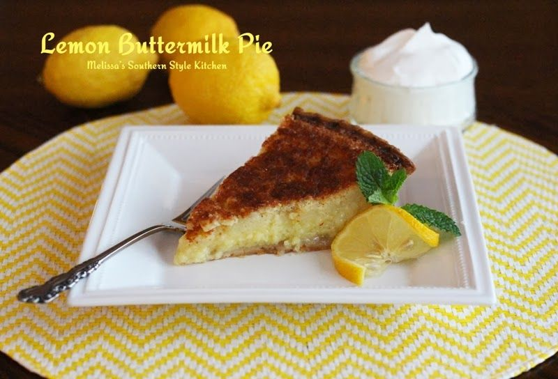 Lemon Buttermilk Pie Recipe Lemon Dessert Recipes Buttermilk Pie Food