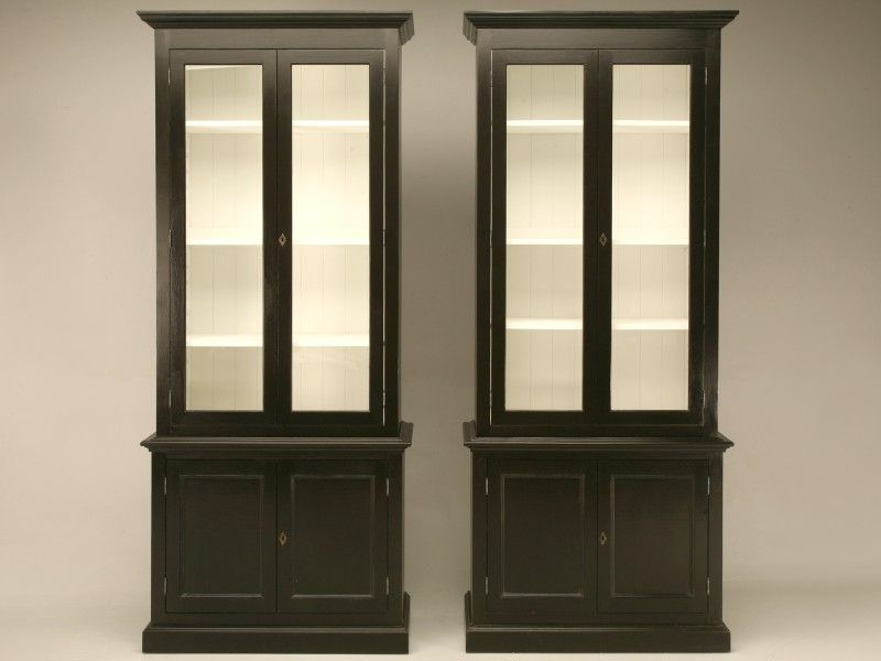 Custom Pair Painted Bookcases, Display, or China Cabinets - http ...