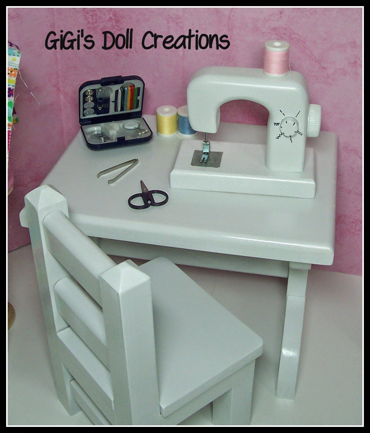 GiGi\'s Doll and Craft Creations: 18 inch doll Sewing Machine, Iron ...