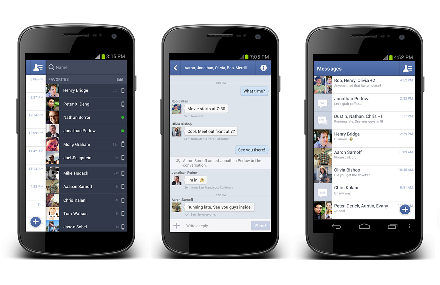 Facebook comenzo a probar la posibilidad de gestionar SMS desde Messenger - http://hexamob.com/es/news-es-es/facebook-comenzo-a-probar-la-posibilidad-de-gestionar-sms-desde-messenger/