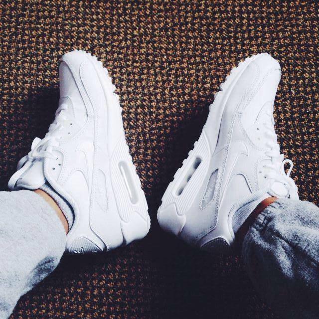 Nike Air Max 90's all white & Nike grey joggers