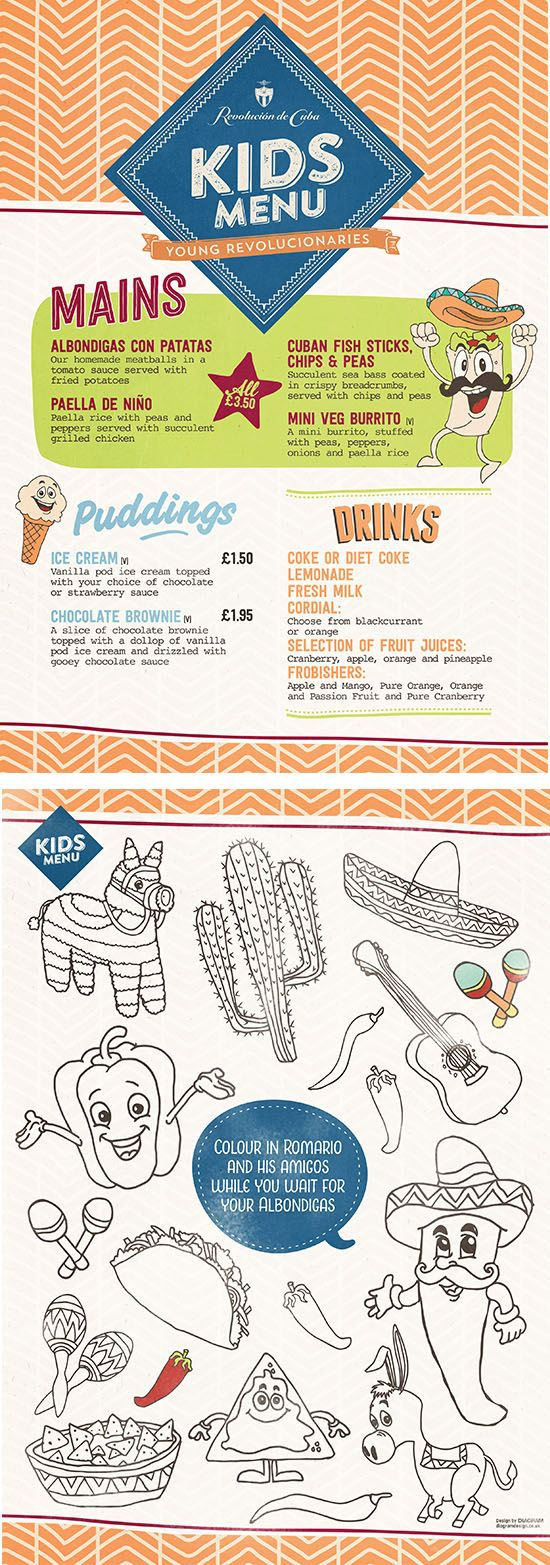 Hand Drawn Illustrations, Kids / Childrens Food Menu, Graphic Design ...