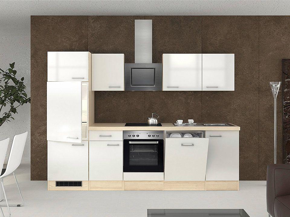 Küchenzeile mit E-Geräten »Oregon, Breite 280 cm, Set 4« Jetzt - küchenblock ohne e geräte