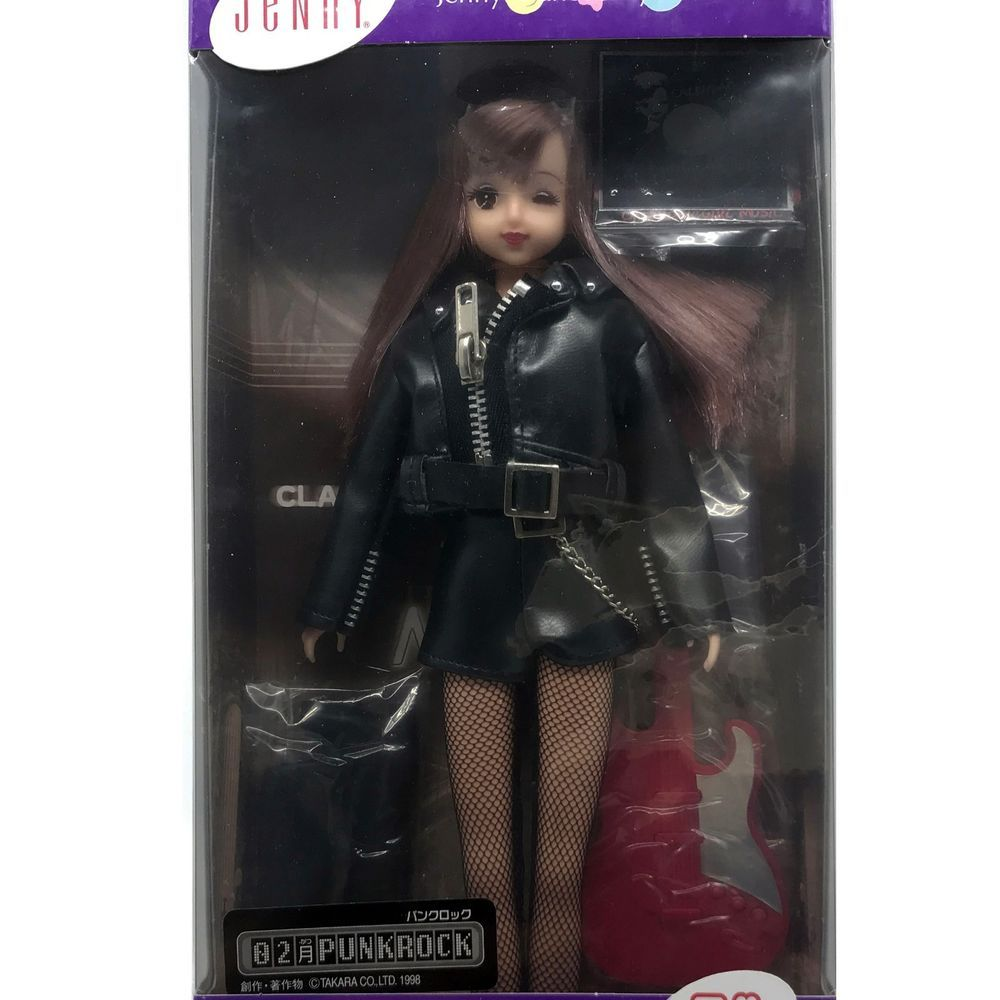 Takara Tomy Jenny Doll Calendar Girl Music 1998 Punk Rock February