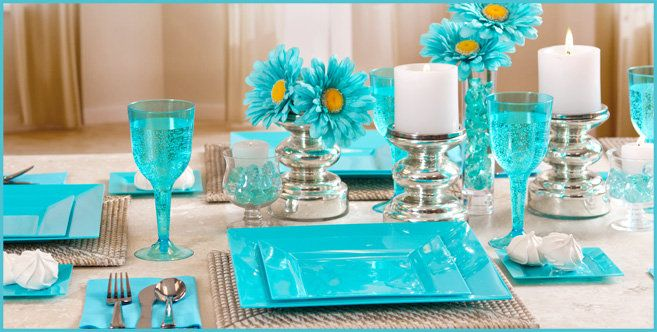 Caribbean Wedding Favor Ideas: Caribbean Blue Party Supplies