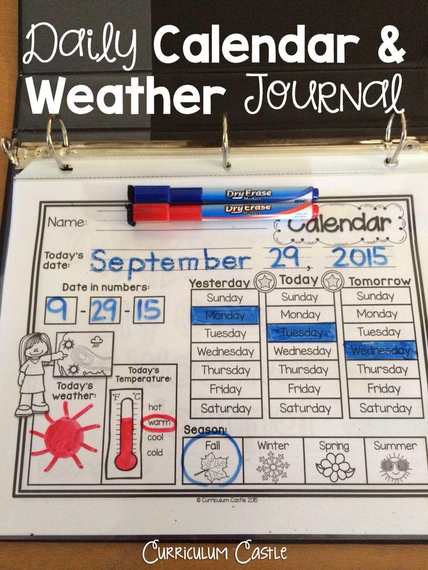 Classroom Calendar  Interactive Journal Rainbow Dots Theme