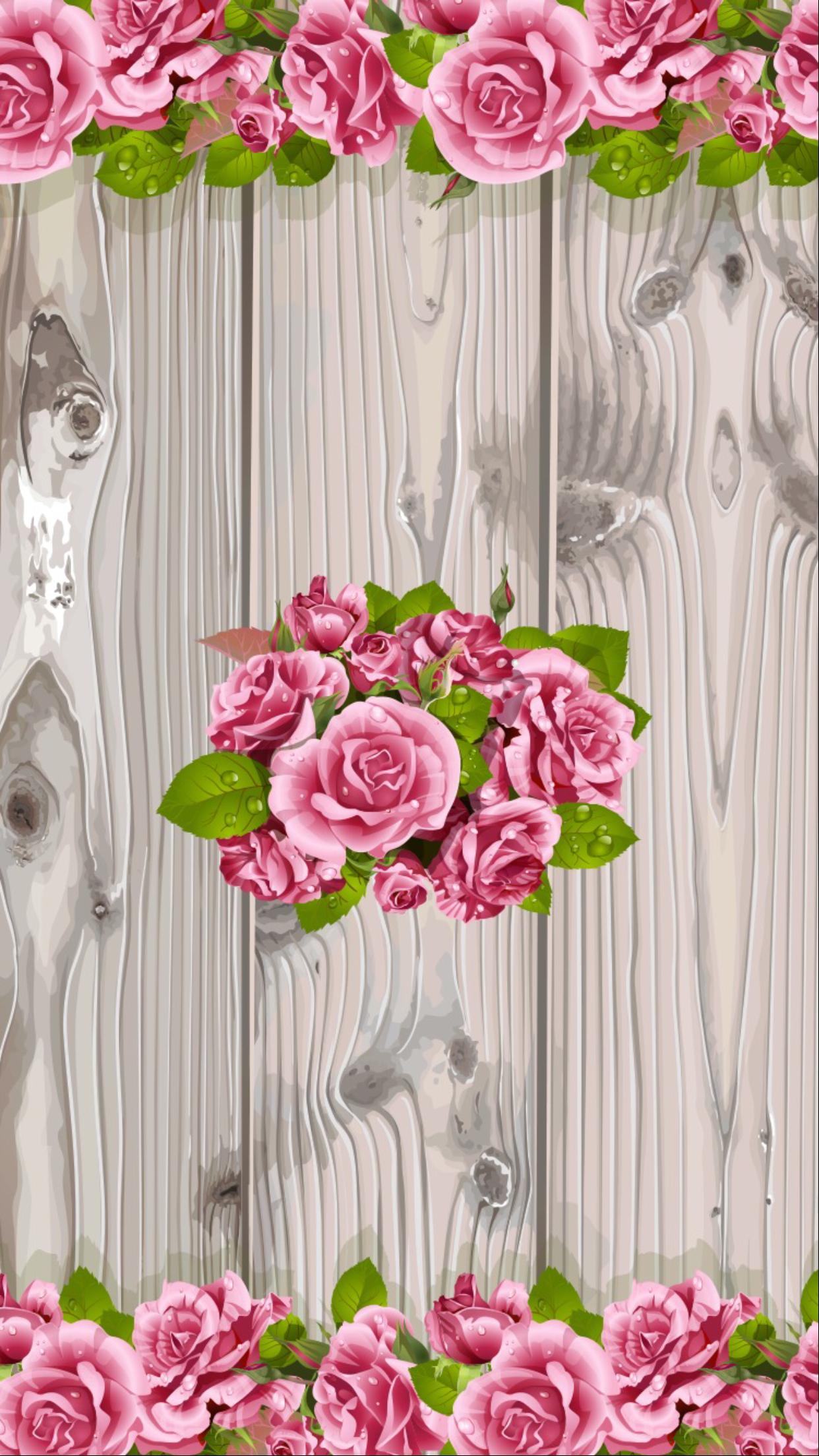 Pin By Mama Z Pasjami On Wallpaper Vol 31 Flowery Wallpaper Flower Art Floral Wallpaper