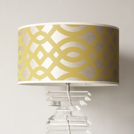 Captivating Our Striking Pompadour Drum Lamp Shade In Yellow And Gold Has Been Made  Using The Finest