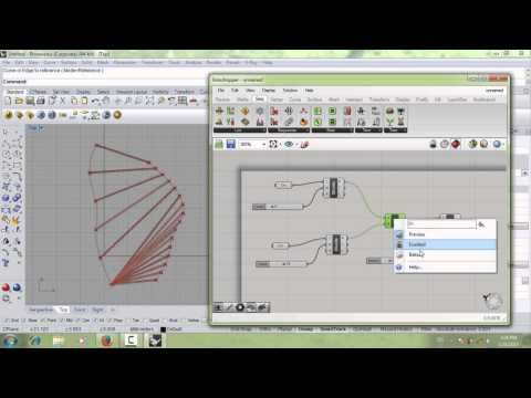 Grasshopper tutorial #7 (Data matching, Divide curve, pipe