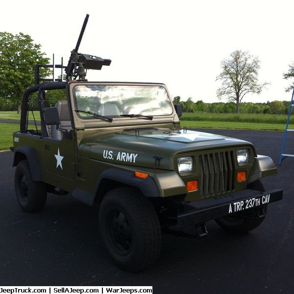1992 Jeep Army Yj Wrangler 4 Wheel Drive Military Jeep Jeep Parts For Sale Jeep Parts