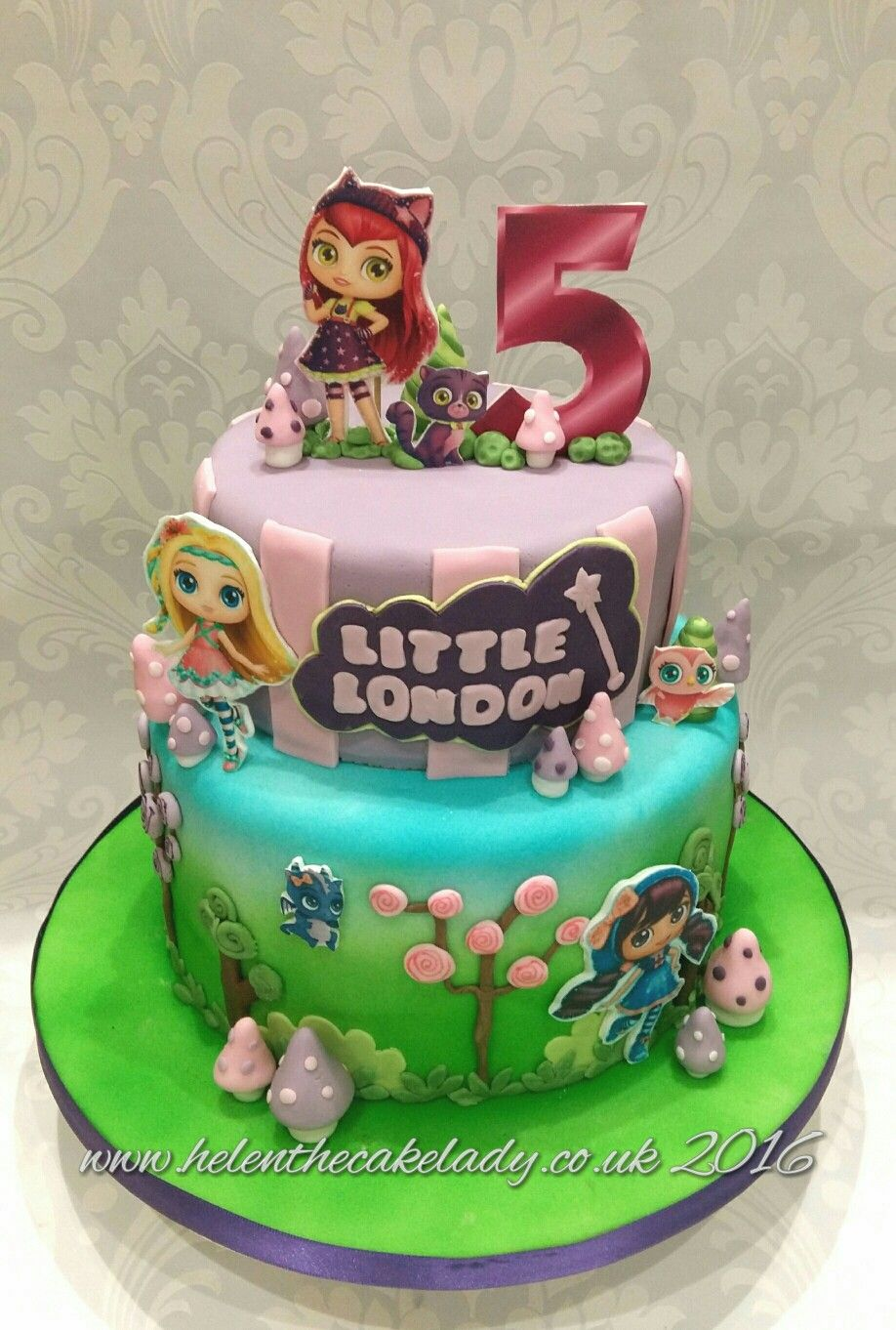 Little Charmers 5th birthday cake. Inspired from another cake design ...