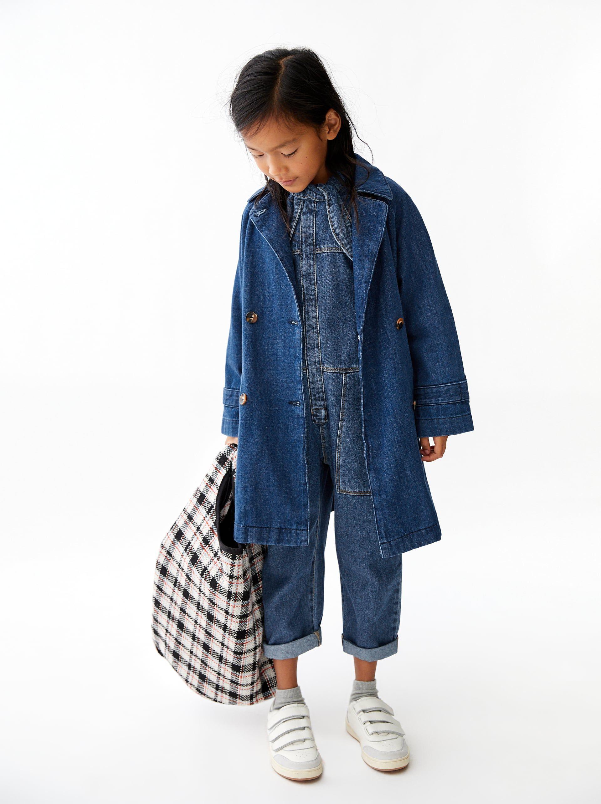 Image 2 Of Denim Three Quarter Length Coat From Zara Denim Mantel Jeansjacke Zara Jeansjacke