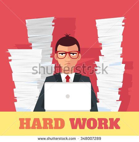 Stress At Work Vector Flat Banner Illustration Illustration Work Stress Banner