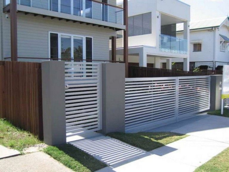 45 Unique Modern Fence Design Ideas To Enhance Your Beautiful Yard Modern Fence Design Fence Design Front Yard Design
