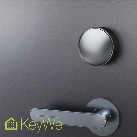 KeyWe Door Lock Is A Convenient Smart Lock That Attaches To Your Interesting How To Pick A Bedroom Door Lock Minimalist