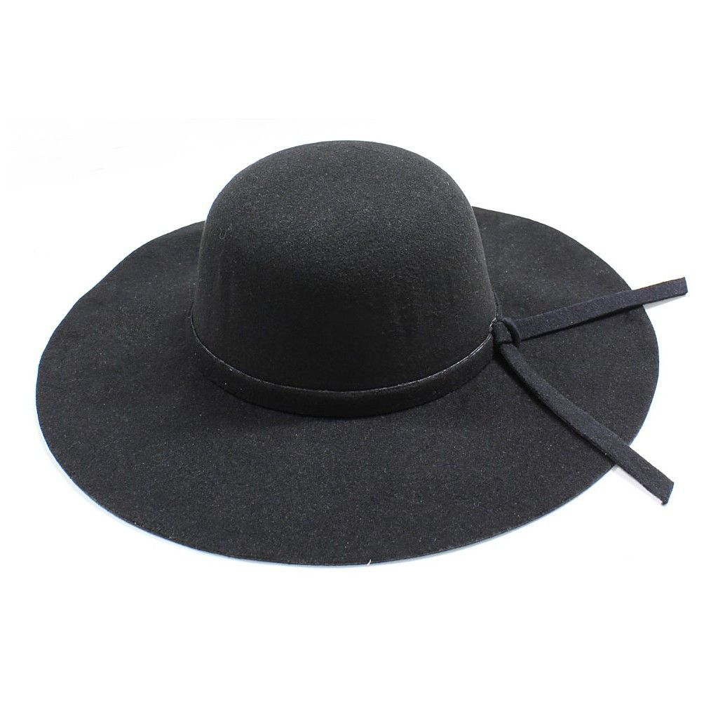 bb6b0b62578e8 Womens Wide Brim Floppy Felt Hat with Matching Tie