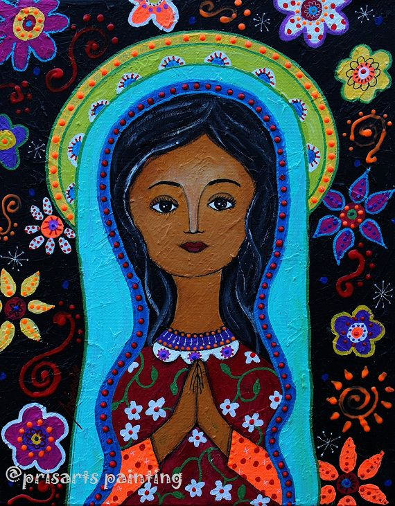 Folk Art Mexican Our Lady Of Guadalupe Nuestra Senora Original