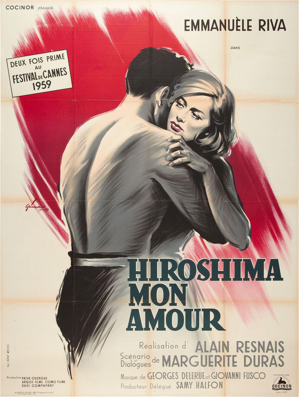 Hiroshima Mon Amour Alain Resnais 1959 French Grande Design By Boris Grinsson