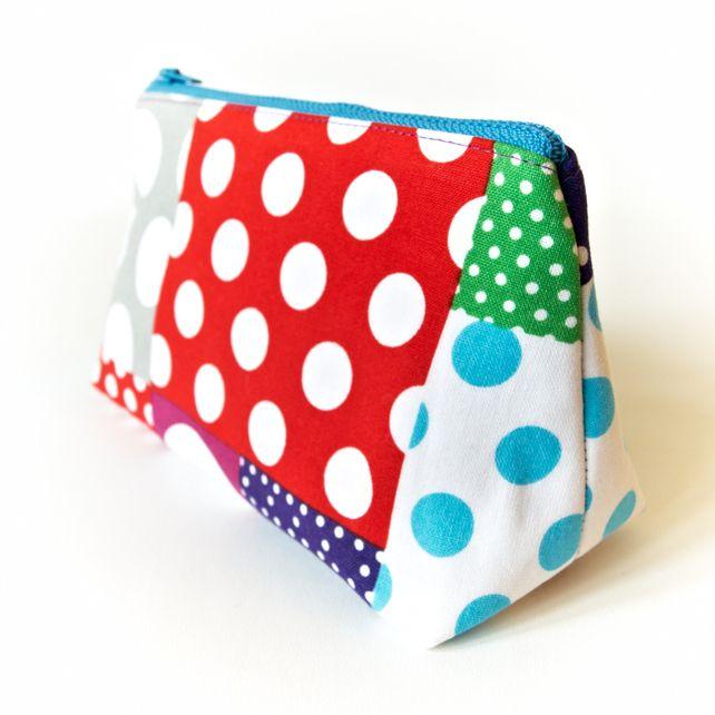 Cute Makeup Bag Polka Dot Patchwork £12.00