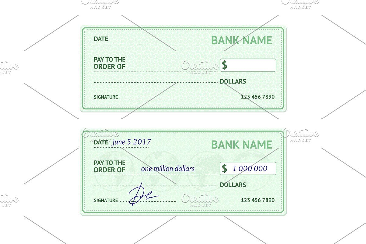Template Blank Bank Check in 2020 Templates, Bank check