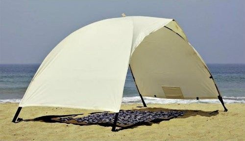 Beach Umbrella Sand Solar Tent Uv Protection Sun Shade Fun