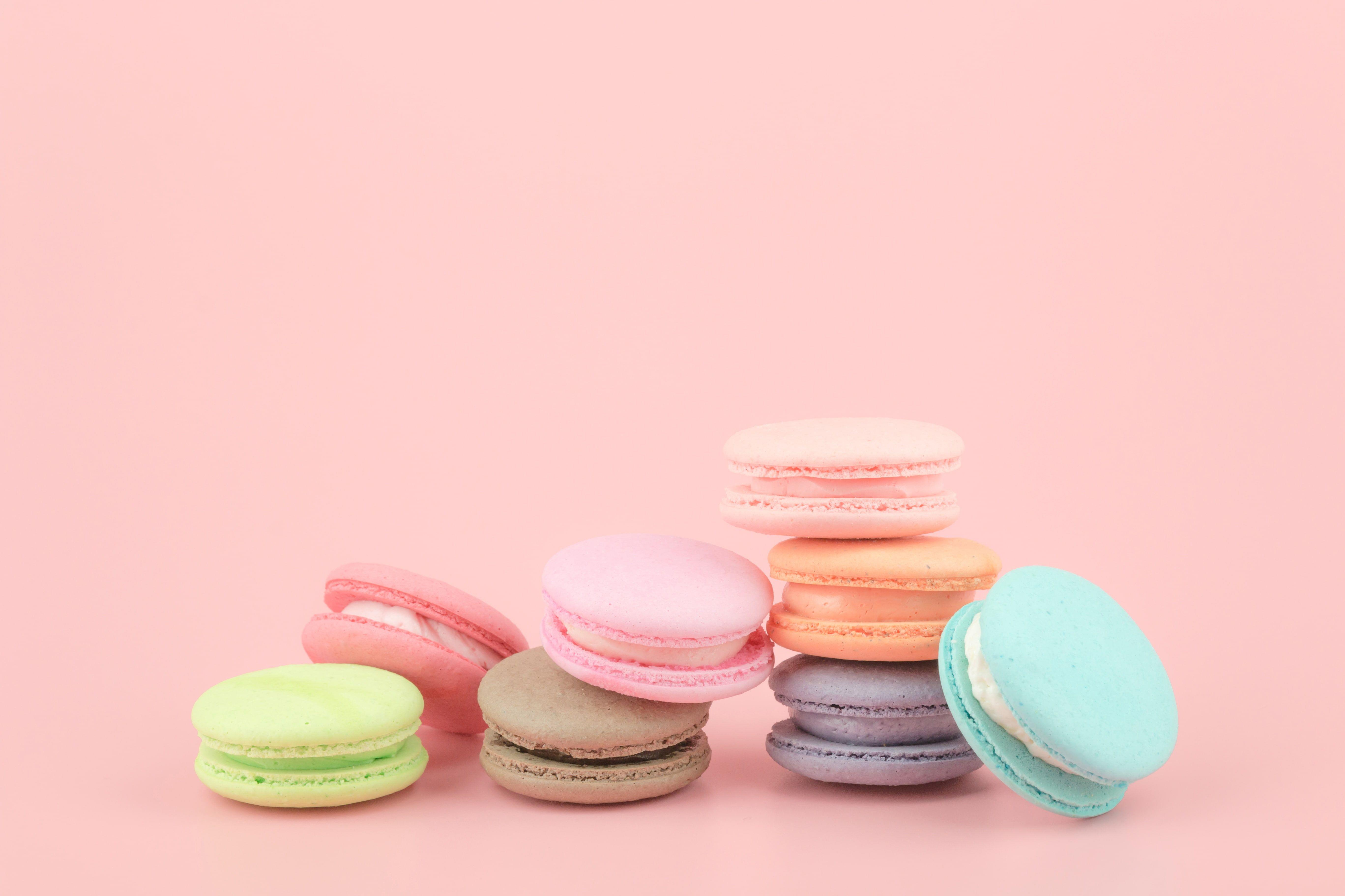 Colorful Dessert Pink Cakes Sweet Sweet Dessert Macaroon French Macaron Macaroon 5k Wallpaper Hdwal Macaron Wallpaper Macaroon Wallpaper Macarons