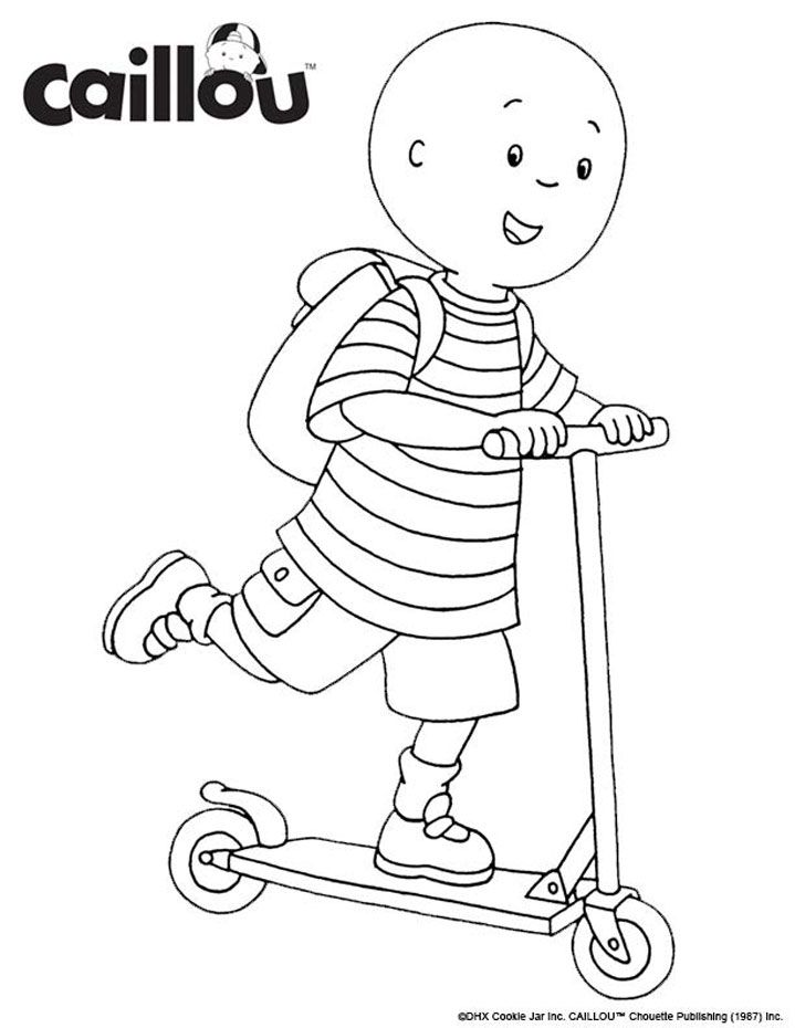 Ready To Learn Caillou Coloring Sheet Caillou Tractor Coloring Pages Preschool Coloring Pages