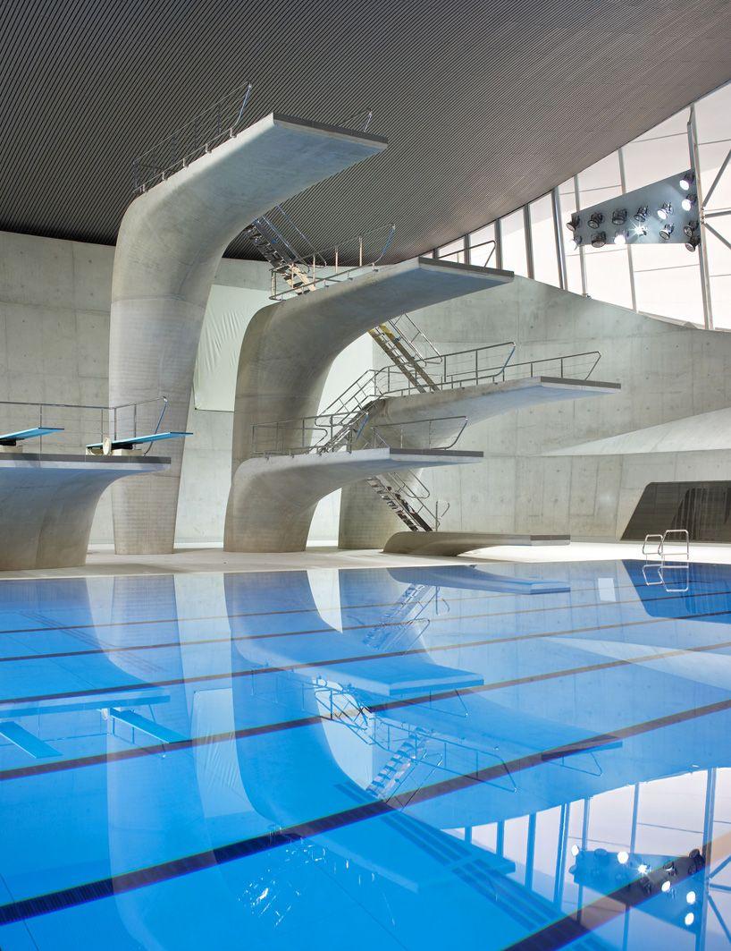 construction for the london aquatics centre for the london 2012 summer olympics by zaha