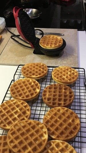 Keto Cream Cheese Waffles - Toaster Size  #keto