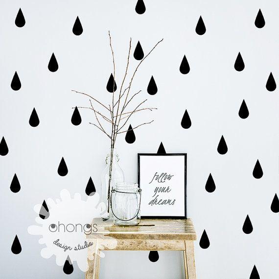 raindrop wall decal / 60 raindrop wallohongsdesignstudio
