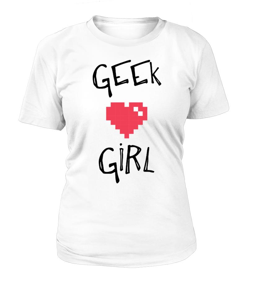 Geek Girl Heart Shirt  #gift #idea #shirt #image #music #guitar #sing #art #mugs #new #tv #cool