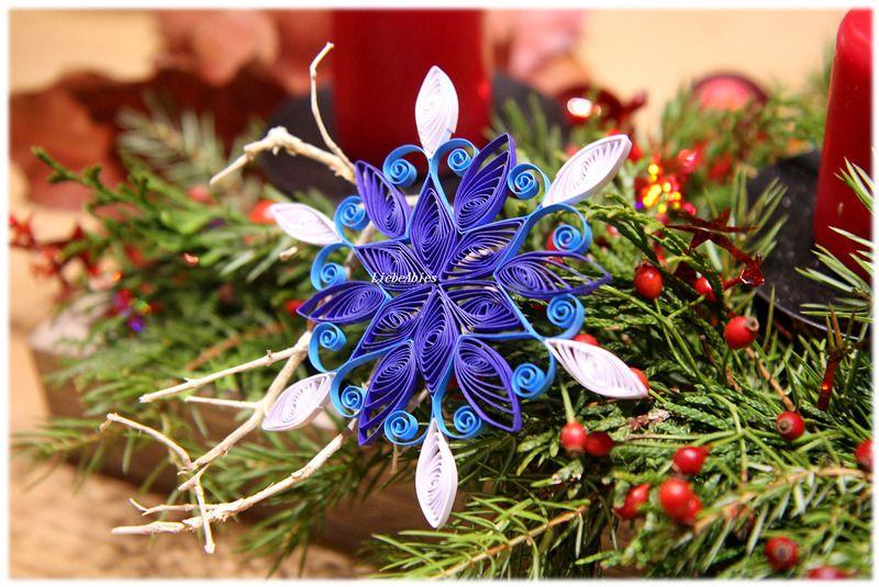 Baumschmuck Schneeflocke Weihnachtsstern Deko von Liebeabies auf DaWanda.com