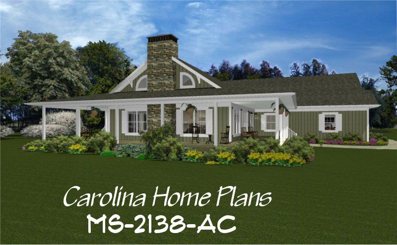 Midsize Country Cottage House Plan With Wrap Around