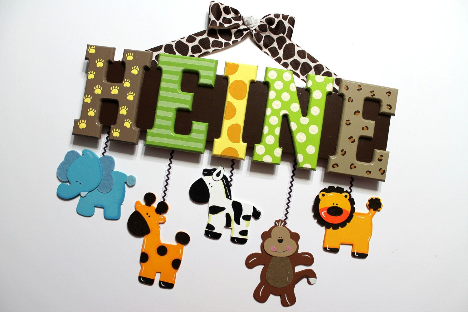 Jungle Animal Letters Font For Nursery Letters