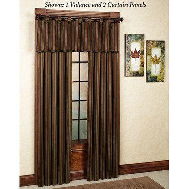 Fresh Striped Living Room Curtains
