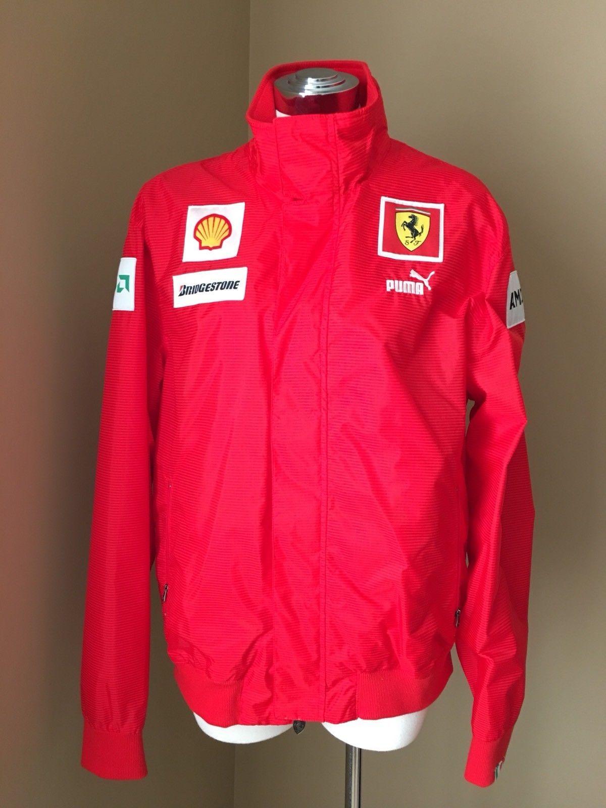 New Puma Red Scuderia Ferrari Jacket Official Licensed Product L 100 Authentic Ebay Jackets Puma Adidas Jacket
