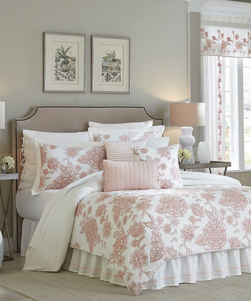 Croscill Fiona Floral Blush King Comforter 2 Sham Bedskirt Set 420 Croscill King Comforter Sets Comforter Sets Home Decor