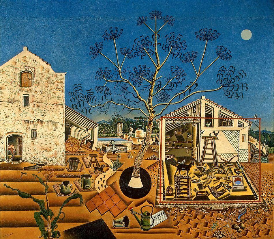 "Artist Joan Miro Title The Farm Date1922 Size 4' 1"" x"