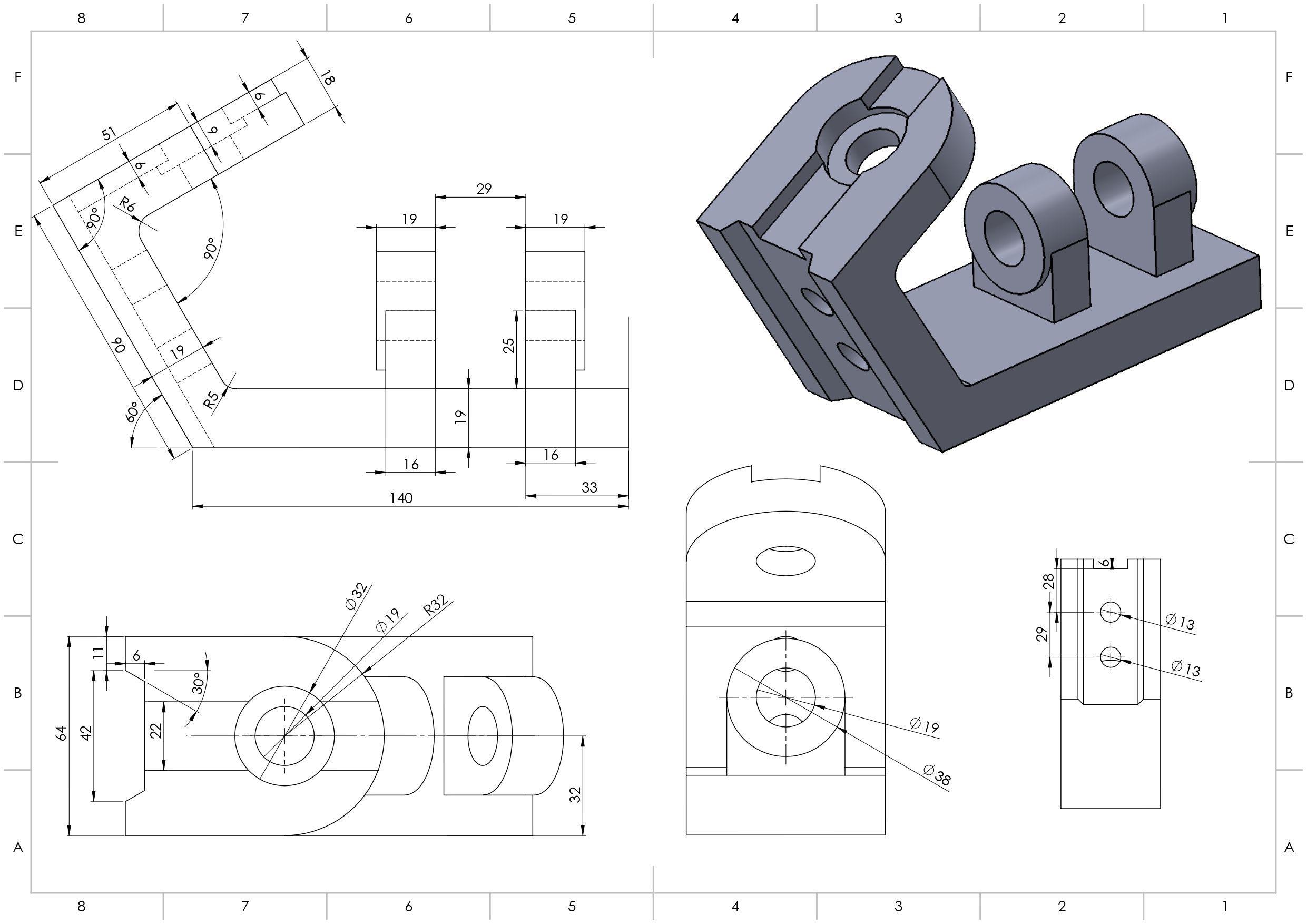 Ejercicio 10 Planos Mecanicos Ejercicios De Dibujo Tecnicas De Dibujo