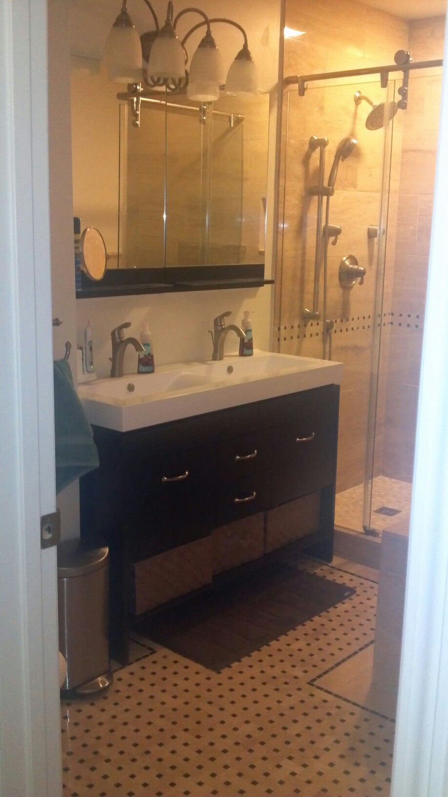 Double Sink Vanity Solution For Small Bathroom  Bathroom Simple Double Sink For Small Bathroom Inspiration Design