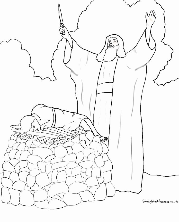 28 Abraham and isaac Coloring Page in 2020 (With images ...