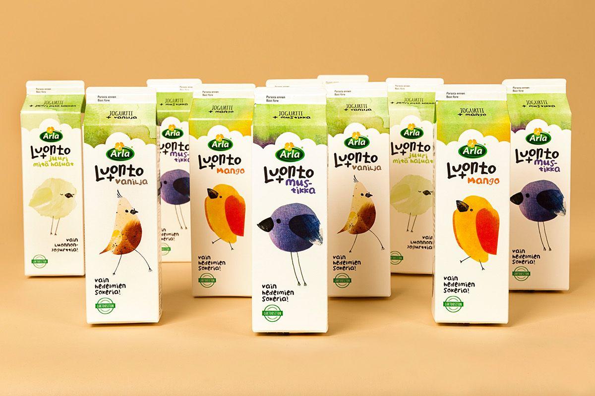 Arla Luonto+ Yoghurt on Behance (With images)