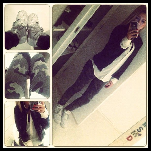 AJ1's with Camo and Cardigan