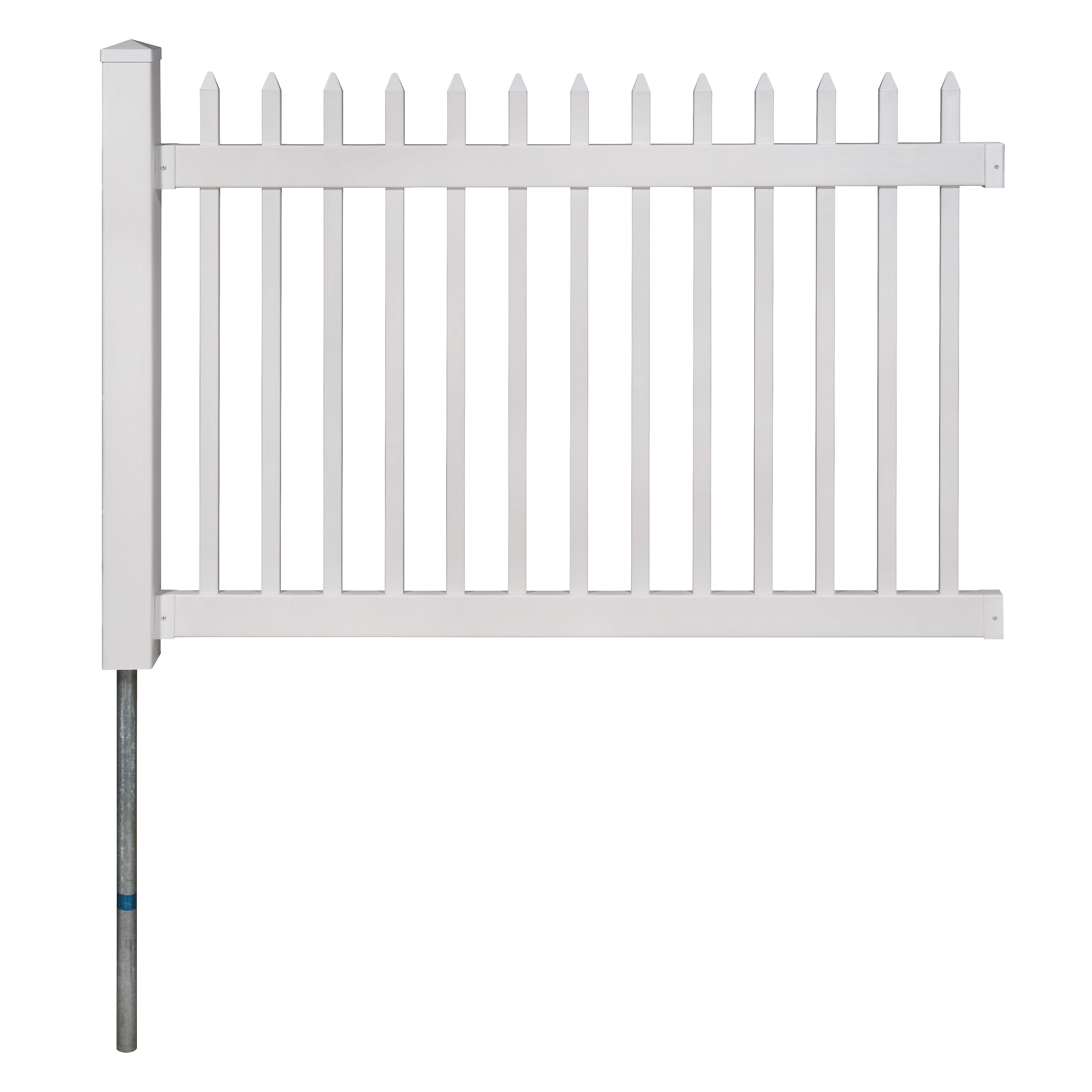 4 Ft H X 6 Ft W Nantucket Fence Fence Panels Vinyl Fence Vinyl Picket Fence