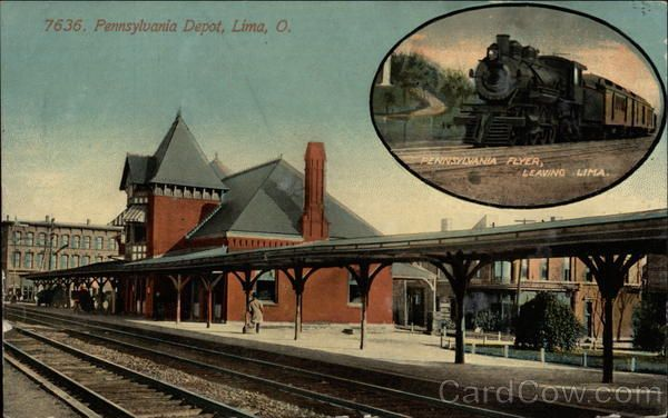 Pennsylvania Depot Lima Ohio  dad used to deliver trucks and if he could not get another delivery coming back to our area .. he would catch a train home .. and we picked him up here a few times