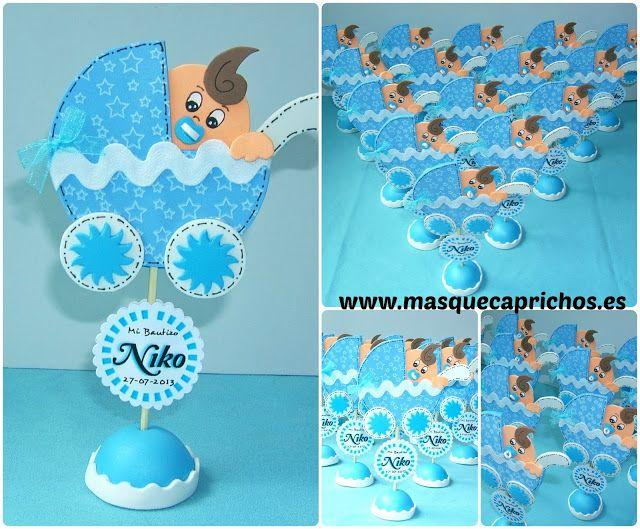Detalles para el bautizo de niko tiago detalles para for Decoracion habitacion bebe goma eva